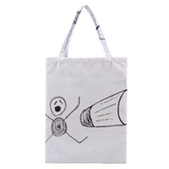 Violence Concept Drawing Illustration Small Classic Tote Bag by dflcprints