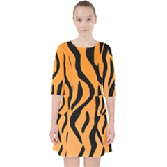 Tiger Fur 2424 100p Pocket Dress by SimplyColor