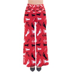 Red So Vintage Palazzo Pants by HASHHAB