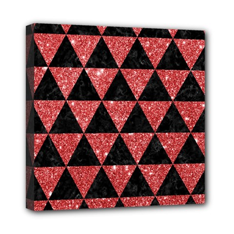 Triangle3 Black Marble & Red Glitter Multi Function Bag	 by trendistuff