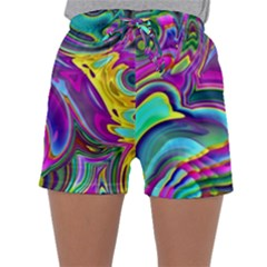 Background Art Abstract Watercolor Sleepwear Shorts by Nexatart
