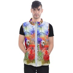 Flowers Bouquet Art Nature Men s Puffer Vest by Nexatart