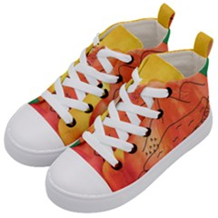 Mountains Kid s Mid Top Canvas Sneakers by snowwhitegirl