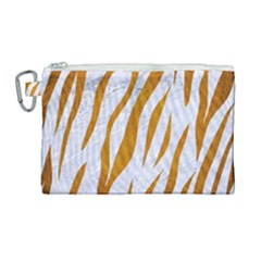 Skin3 White Marble & Yellow Grunge (r) Canvas Cosmetic Bag (large) by trendistuff