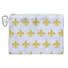 Royal1 White Marble & Yellow Denim Canvas Cosmetic Bag (xl) by trendistuff