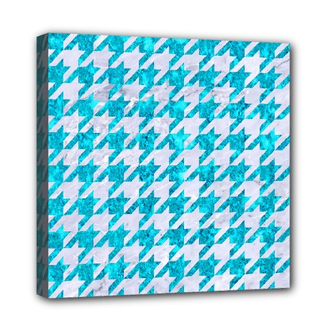 Houndstooth1 White Marble & Turquoise Marble Multi Function Bag	 by trendistuff