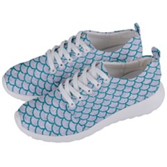 Scales1 White Marble & Turquoise Glitter (r) Men s Lightweight Sports Shoes by trendistuff