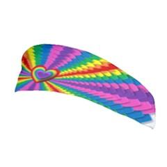 Rainbow Hearts 3d Depth Radiating Stretchable Headband