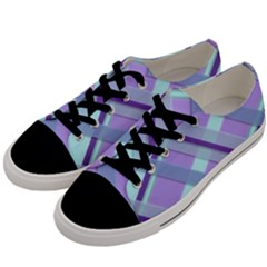 Diagonal Plaid Gingham Stripes Men s Low Top Canvas Sneakers by Nexatart