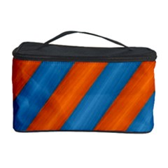 Diagonal Stripes Striped Lines Cosmetic Storage Case by Nexatart