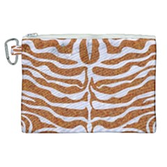 Skin2 White Marble & Rusted Metal Canvas Cosmetic Bag (xl) by trendistuff