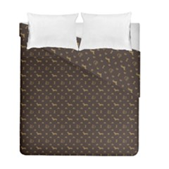Louis Dachshund  Luxury Dog Attire Duvet Cover Double Side (full/ Double Size) by PodArtist