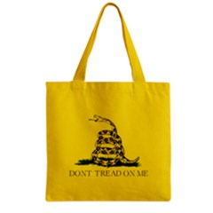 Gadsden Flag Don t Tread On Me Grocery Tote Bag by MAGA