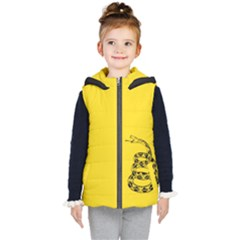 Gadsden Flag Don t Tread On Me Kid s Hooded Puffer Vest by gooomega