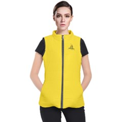 Gadsden Flag Don t Tread On Me Women s Puffer Vest by gooomega