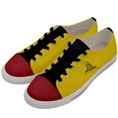 Gadsden Flag Don t Tread On Me Men s Low Top Canvas Sneakers by MAGA
