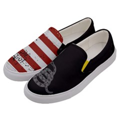 Gadsden Flag Don t Tread On Me Men s Canvas Slip Ons by MAGA