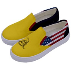 Gadsden Flag Don t Tread On Me Kids  Canvas Slip Ons by MAGA