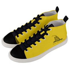 Gadsden Flag Don t Tread On Me Men s Mid Top Canvas Sneakers by snek