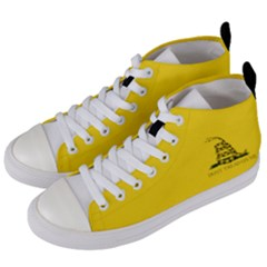 Gadsden Flag Don t Tread On Me Women s Mid Top Canvas Sneakers by snek