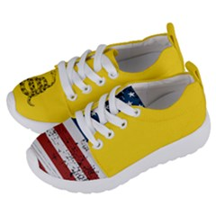 Gadsden Flag Don t Tread On Me Kids  Lightweight Sports Shoes by MAGA
