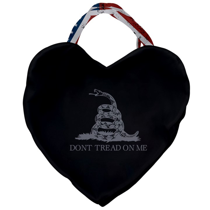 Gadsden Flag Don t tread on me Giant Heart Shaped Tote