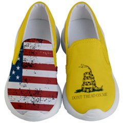 Gadsden Flag Don t Tread On Me Kid s Lightweight Slip Ons by MAGA
