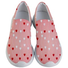 Heart Shape Background Love Women s Lightweight Slip Ons by Nexatart