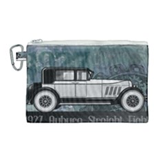 Vintage Car Automobile Auburn Canvas Cosmetic Bag (large) by Nexatart