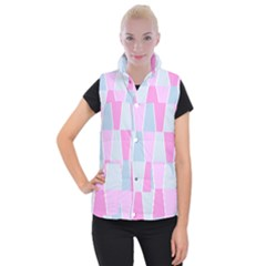 Geometric Pattern Design Pastels Women s Button Up Vest by Nexatart