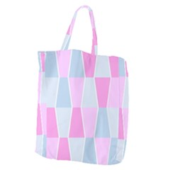 Geometric Pattern Design Pastels Giant Grocery Zipper Tote