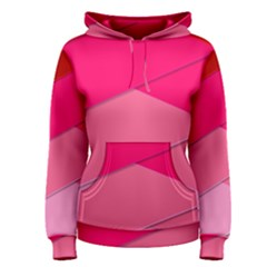 Geometric Shapes Magenta Pink Rose Women s Pullover Hoodie