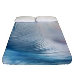 Feather Ease Slightly Blue Airy Fitted Sheet (california King Size)