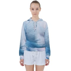 Feather Ease Slightly Blue Airy Women s Tie Up Sweat