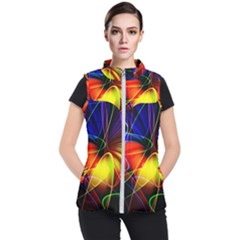 Fractal Pattern Abstract Chaos Women s Puffer Vest by Nexatart