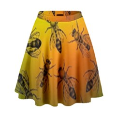 Insect Pattern High Waist Skirt by Sapixe