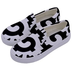 Maya Calendar Native American Religion Kids  Canvas Slip Ons by Sapixe