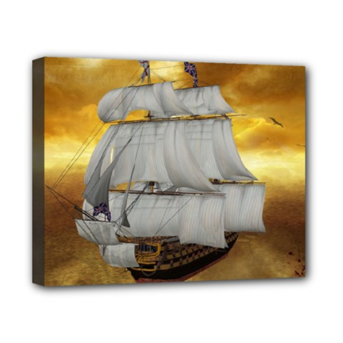 Pirate Ship Canvas 10  X 8  by Sapixe
