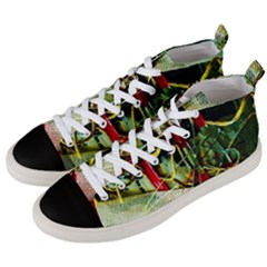 Hidden Strings Of Purity 13 Men s Mid Top Canvas Sneakers by bestdesignintheworld
