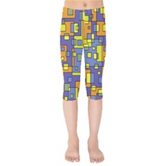 Square Background Background Texture Kids  Capri Leggings  by Sapixe