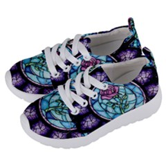 Cathedral Rosette Stained Glass Kids  Lightweight Sports Shoes by Samandel