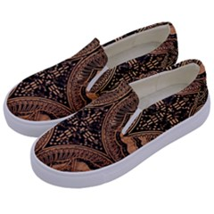 The Art Of Batik Printing Kids  Canvas Slip Ons by Sapixe