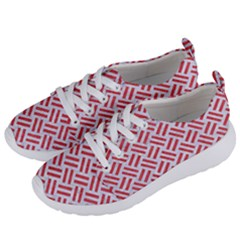 Woven2 White Marble & Red Colored Pencil (r) Women s Lightweight Sports Shoes by trendistuff