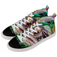 Mermaid 1 Men s Mid Top Canvas Sneakers by bestdesignintheworld