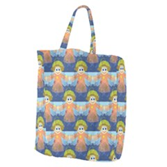 Seamless Repeat Repeating Pattern Giant Grocery Zipper Tote