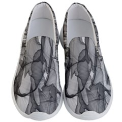 Abstract Black And White Background Men s Lightweight Slip Ons by Sapixe