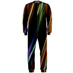Lines Rays Background Light Onepiece Jumpsuit (men)  by Sapixe