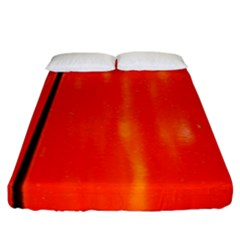 Abstract Orange Fitted Sheet (california King Size)