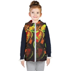 Girls Curiosity 4 Kid s Hooded Puffer Vest by bestdesignintheworld