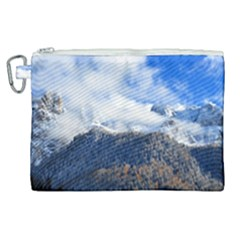 Mountains Alpine Nature Dolomites Canvas Cosmetic Bag (xl) by Simbadda